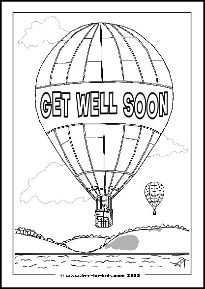 Get well soon coloring pages printables kid stuff for Get well soon card coloring pages
