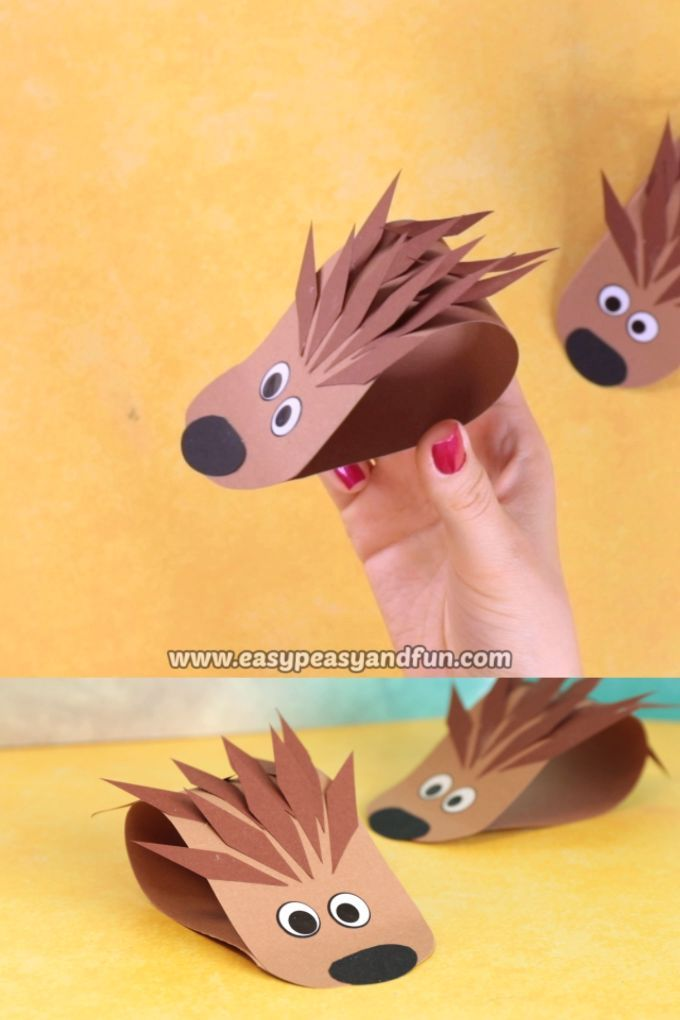 Simple Hedgehog Paper Craft