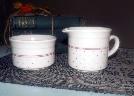 Vintage (1960s) Biltons England BIL9 cream and open sugar bowl set ...