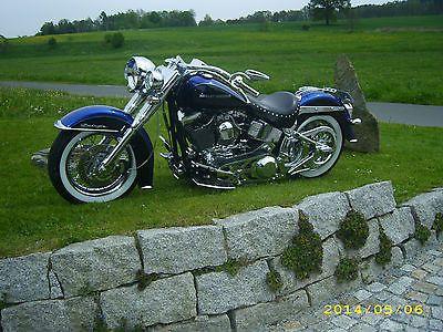 Harley Davidson Softail Deluxe Custombike Showbike einmalig!!!!!!!