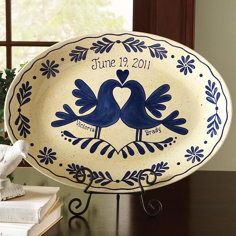 4th Wedding Anniversary Gift Ideas: Wedding/Anniversary Platter