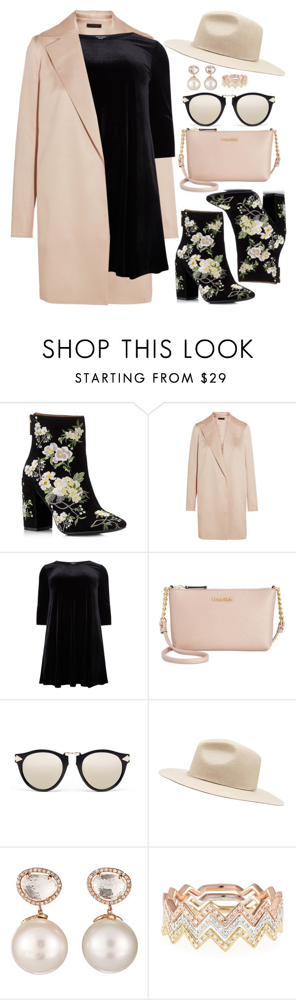 """""""Boots stamped!!!"""" by bmaroso ❤ liked on Polyvore featuring Miss Selfridge, The Row, New Look, Calvin Klein, Karen Walker, Witchery, Samira 13, EF Collection, Flowers and booties"""