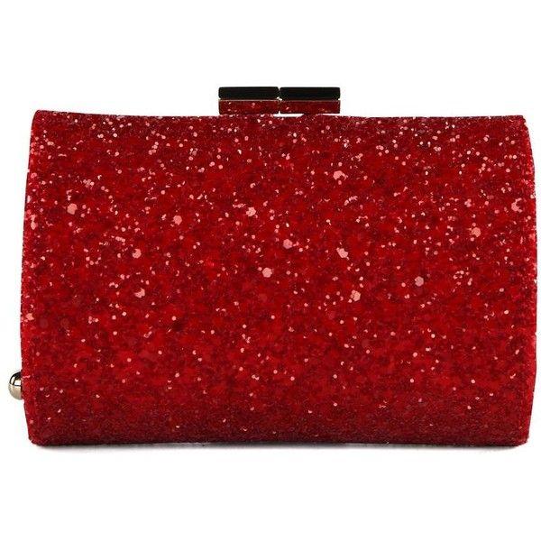 b1d7bab61c Jimmy Choo Mini Tube Red Glitter Clutch Bag | All That Glitters in ...