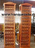 Cava alta mueble rustico pino oregon muebles de entrada for Bar de madera persa bio bio