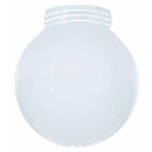 6 Inch Glass Shade With Screw In 3 11 64 Inch Fitter Opening