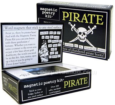 PIRATE MAGNETIC POETRY KIT