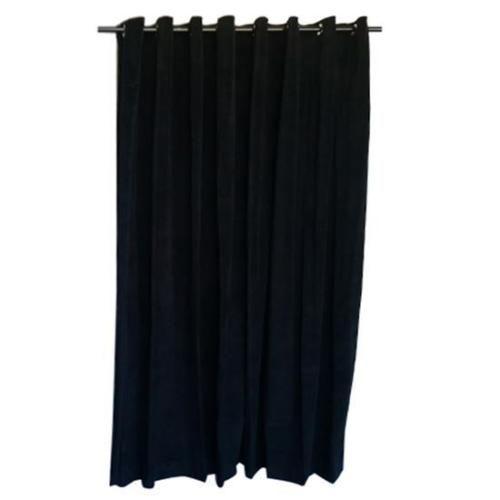 Details About Black 108 H Cotton Velvet Curtain Panel W Grommet