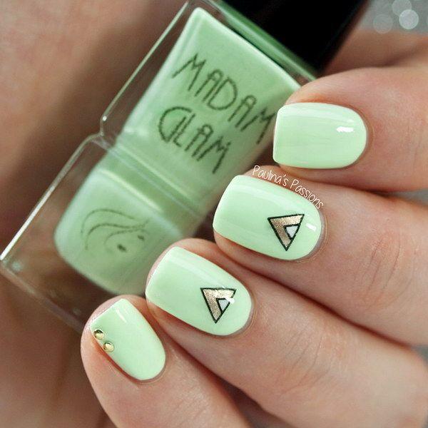 40 elegant and amazing green nail art designs that will inspire 40 elegant and amazing green nail art designs that will inspire you prinsesfo Image collections