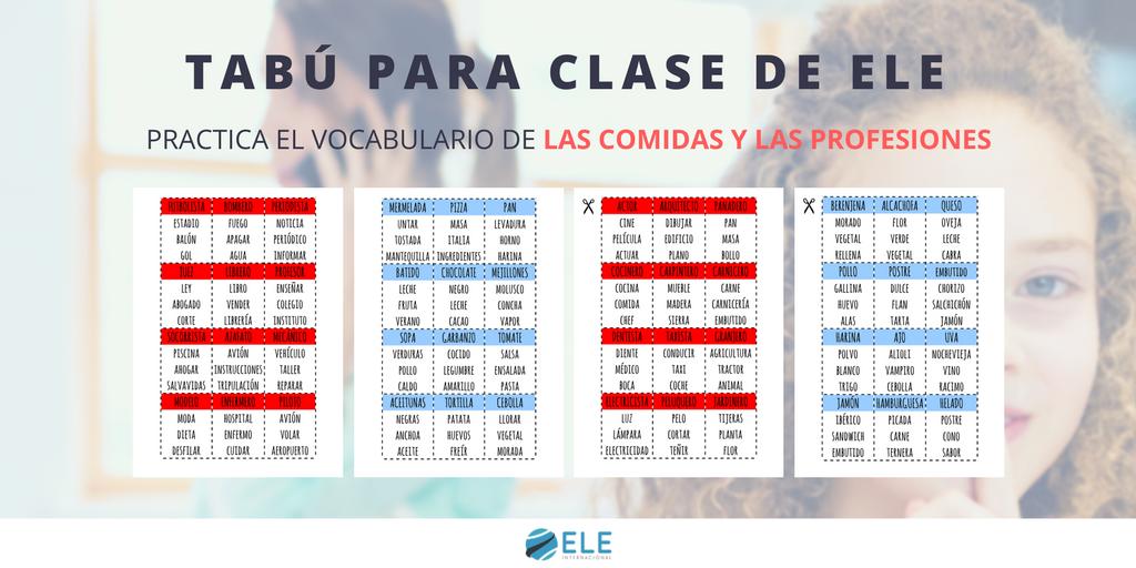 Juego Tabu En Clase De Ele Spanishteacher Juegos De Mesa Clase De
