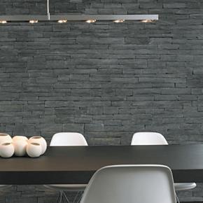 steinwand wohnzimmer bad k che gekonnt in szene. Black Bedroom Furniture Sets. Home Design Ideas