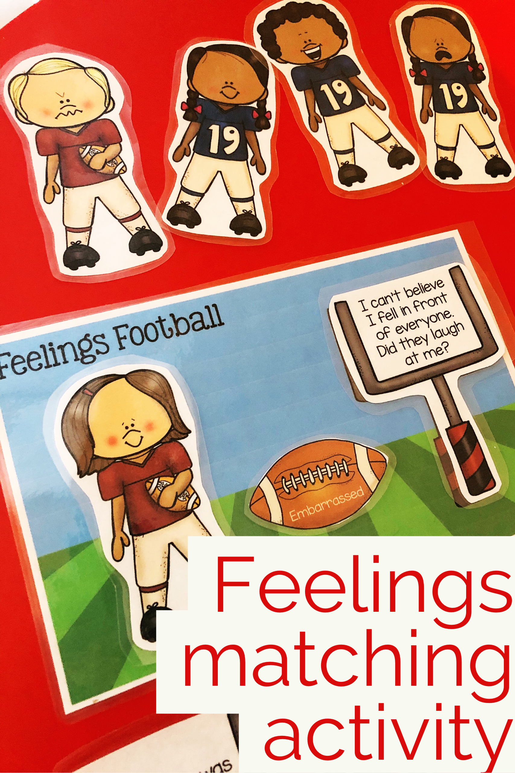 Football Feelings Matching Activity For Understanding And
