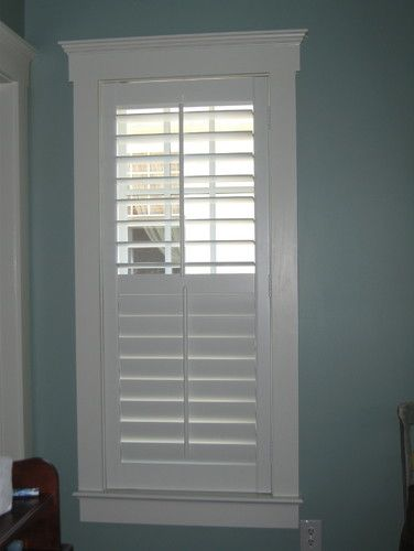 Plantation Shutters The Separation Strip On Middle Allows You To Close The Bottom And Keep Top
