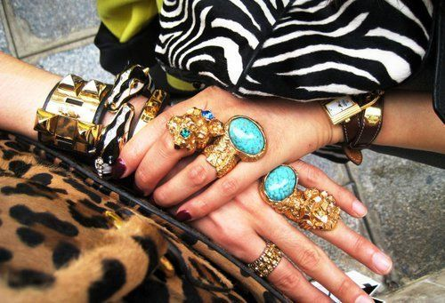 turquoise, gold and hermes