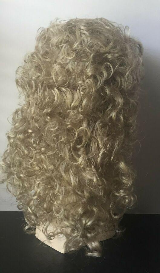 European Naturals Wig Extra Long Curly Hair with Bangs Light Ash Blonde  European Naturals Wig Extra Long Curly Hair with Bangs Light Ash Blonde  European Naturals Wig Ex...