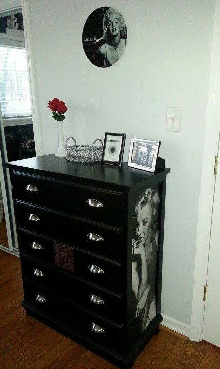 Marilyn Monroe Dresser Made With A Free Dresser Poster And A Lot Of Pinterest Inspiration