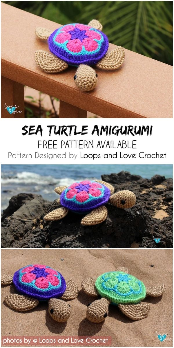 Cute Sea Turtle Amigurumi Pattern Idea #crochetturtles