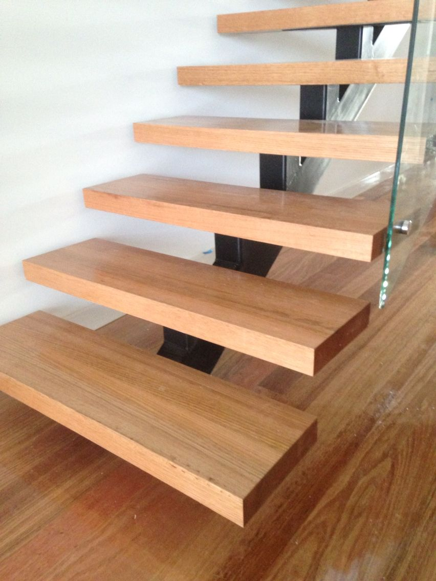 Best Steel Spine Stair With 62Mm Victorian Ash Treads Glass 640 x 480