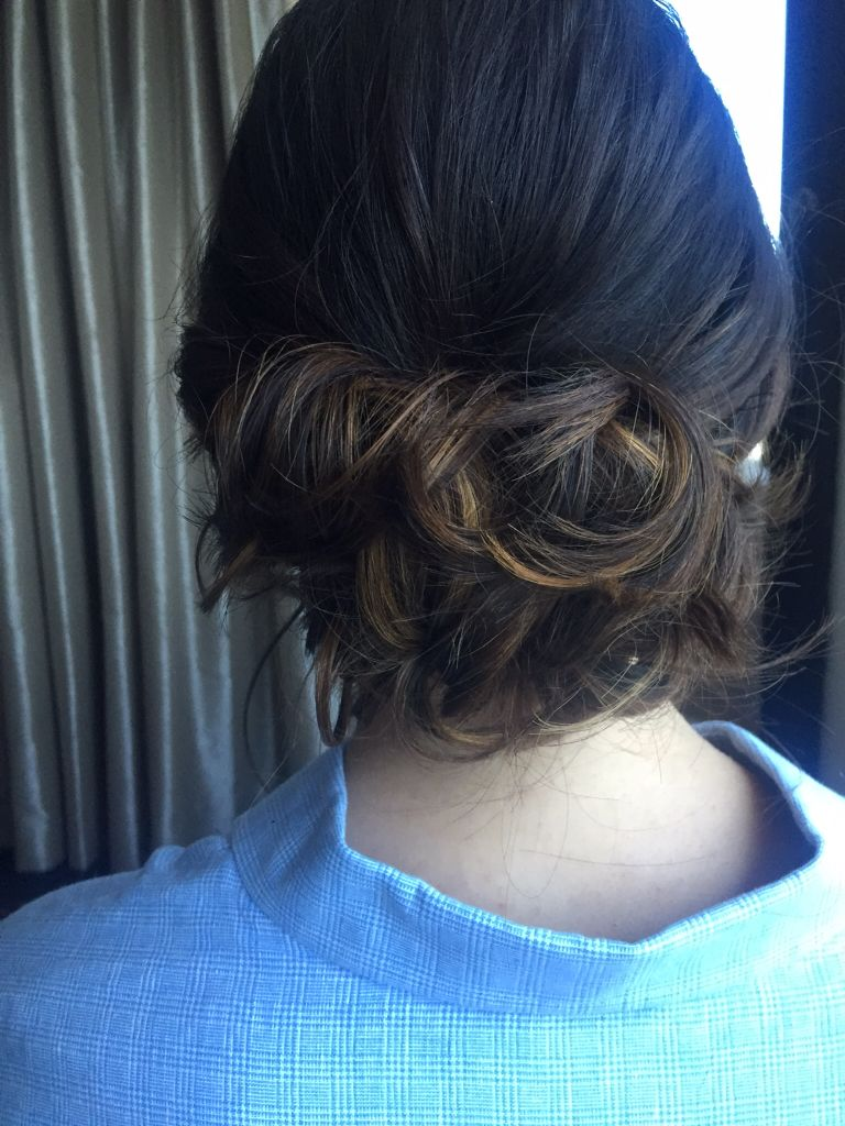 loose curls for bridemaids hair wedding day