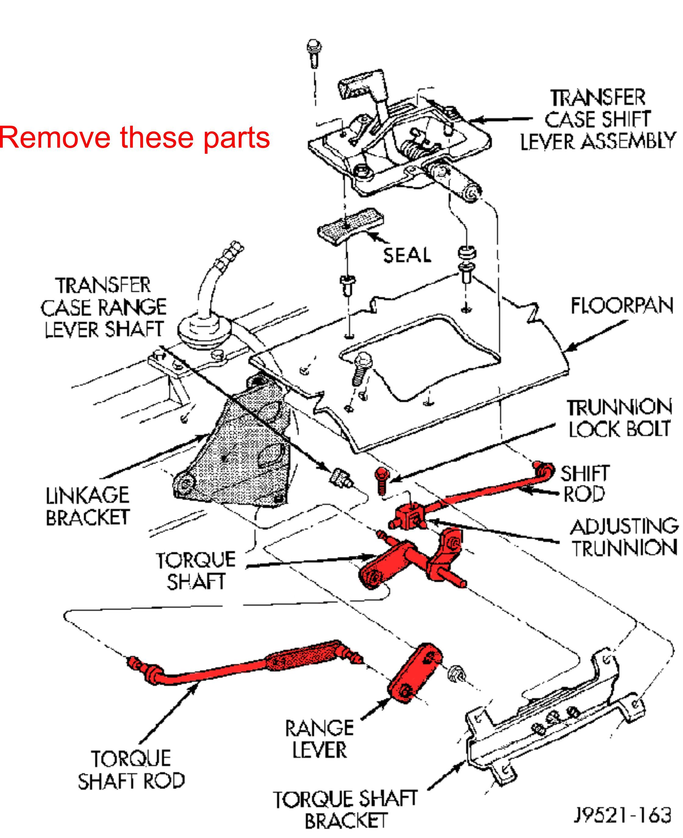 Jeep Cherokee Xj Transfer Case Linkage Kit