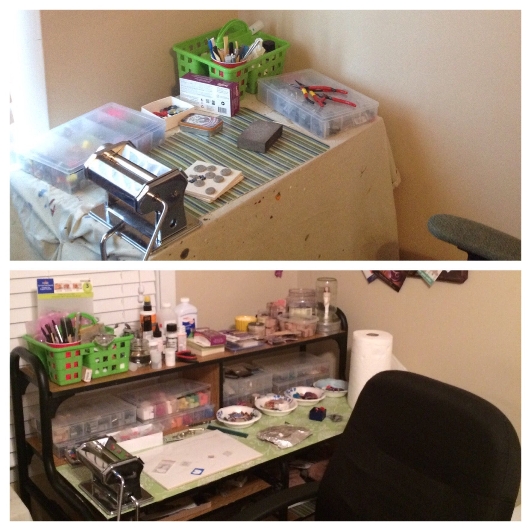 Craft Room Organization – Work Tables | Hold My Broom Blog