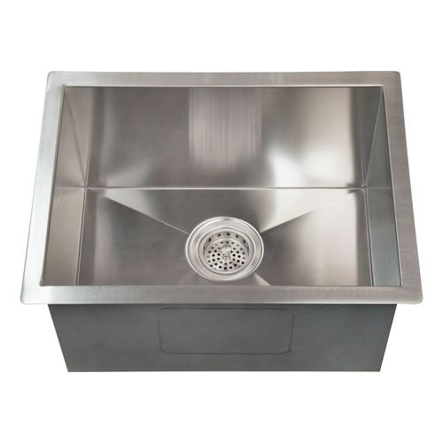 Sabrina Stainless Steel 20 Inch Rectangular Undermount Prep Sink Undermount Stainless Steel Sink Small Stainless Steel Sink Sink