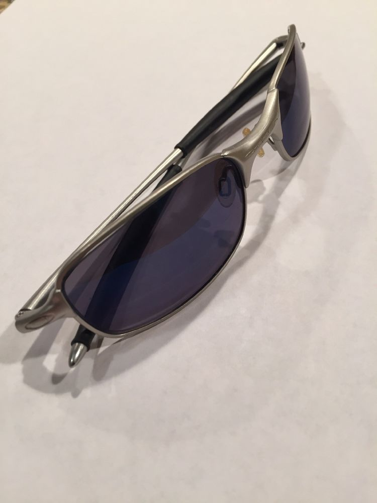 9b09ff1ead Oakley Square Wire 2.0 (Vintage) Matte Silver Frames Iridium Blue Lenses  Used  fashion  clothing  shoes  accessories  mensaccessories ...