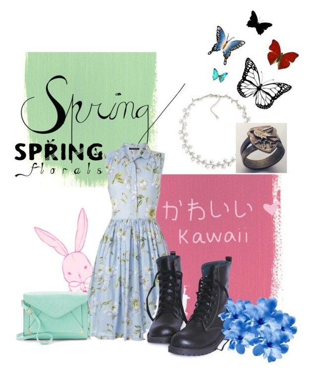 """""""Spring~"""" by anime-doctorwho-dork ❤ liked on Polyvore featuring Carolee, French Connection, Apt. 9, NOVICA and Amara"""