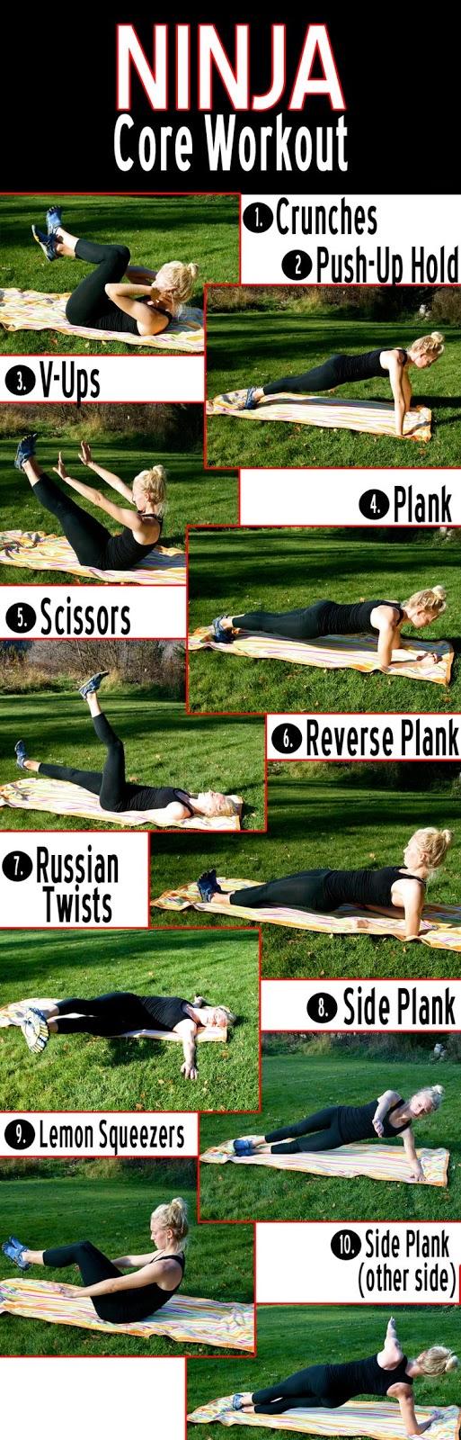 Ninja Core Workout