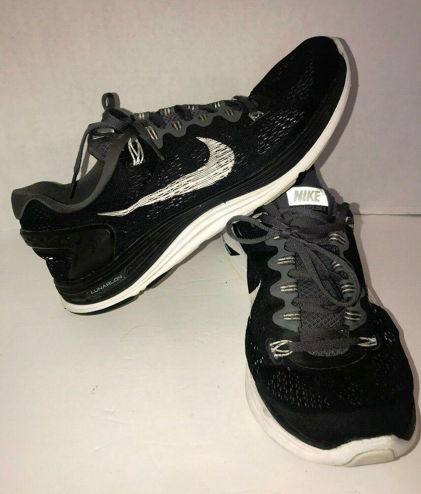 Definir Perspicaz eliminar  Nike Lunar Glide 5 Black And White Dynamic Support Sneakers Size 11 #Nike |  Nike, Sneakers, Nike lunar
