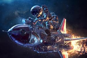 Astronaut Spaceship Science Fiction 3d Retrofuturism Wallpaper Sci Fi Wallpaper Spaceship Illustration Character Art