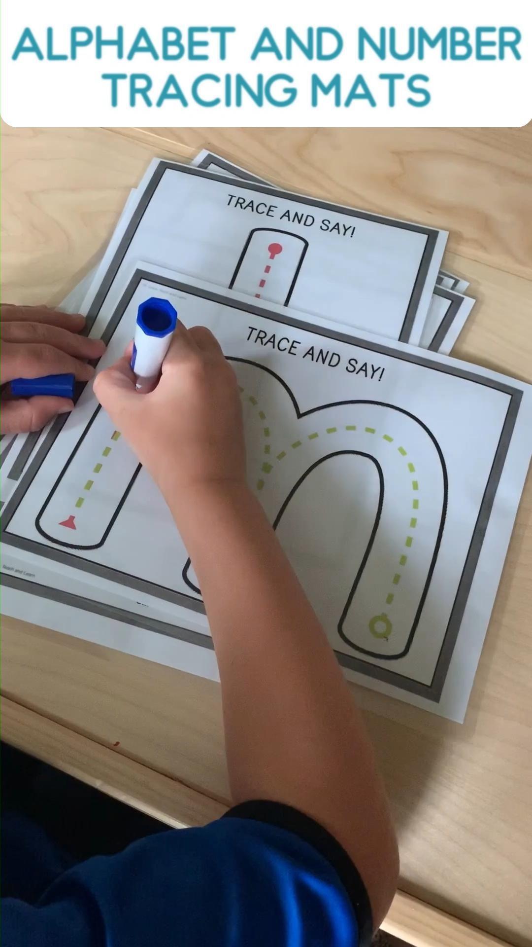 Alphabet & Number Tracing Mats For Preschool & Kindergarten