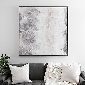 Monochrome Abstract Large Framed Canvas Art Print Decorating