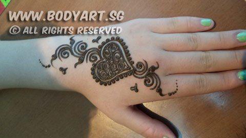 Henna Tattoo Heart Designs Love Heart Tattoo Henna Henna