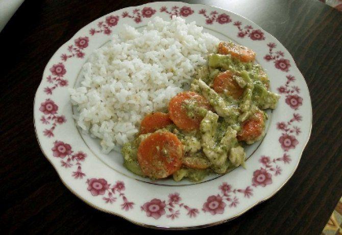 Joghurtos brokkolis csirkemell