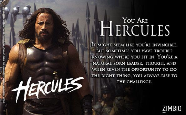 I. Am. Hercules!!  which warrior are you? See 'Hercules' in theaters on July 25!