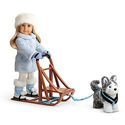 American Girl® : Snow Flurry Outfit & Dog Sled Set
