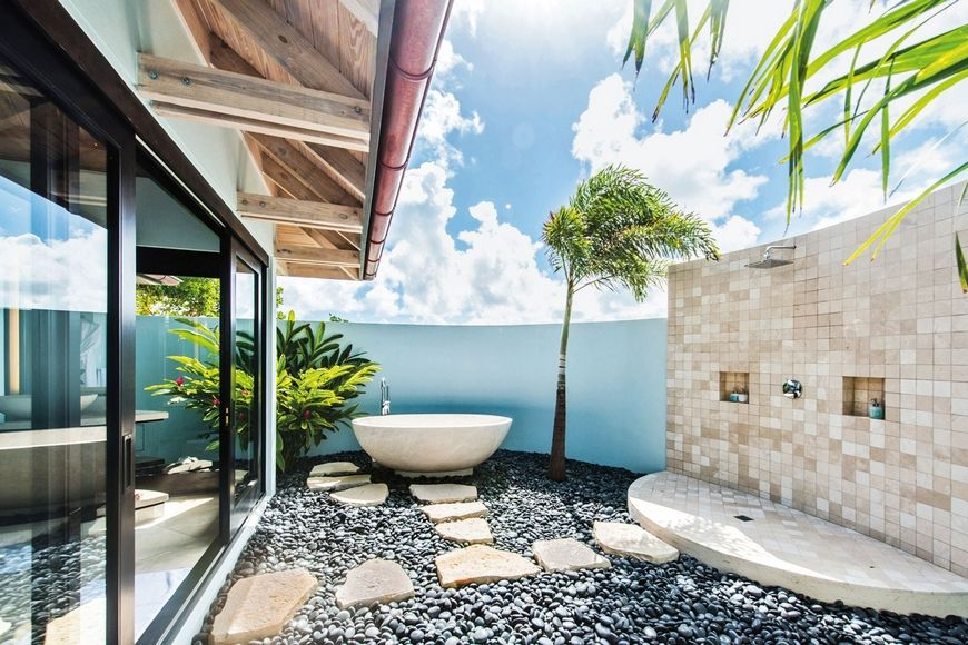 Summer Home Decor Ideas To Enhance Your Luxury Bathroom  Outdoor Glamorous Luxury Outdoor Bathrooms 2018