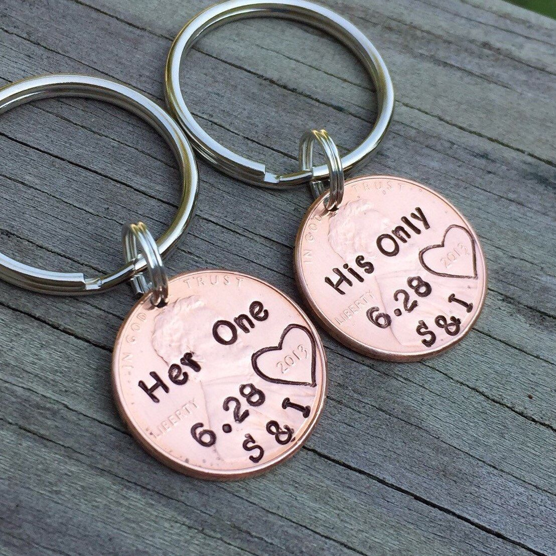 His hers matching one and only personalized penny
