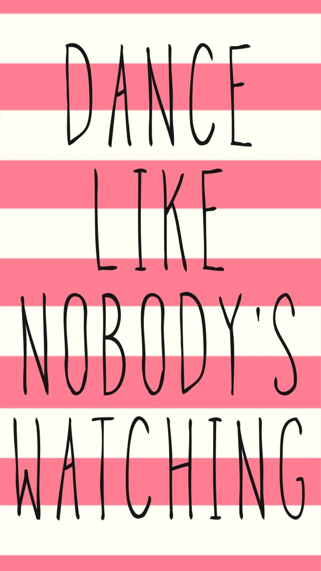 Pink Cream Stripe Dance Quote Iphone Wallpaper Phone Background Lock Screen