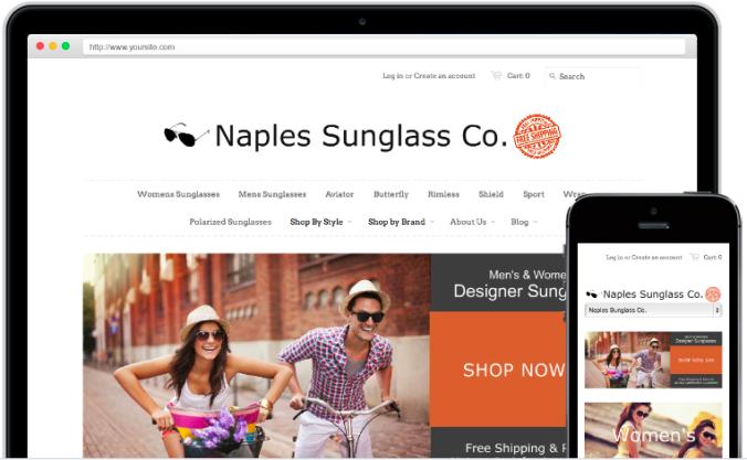Shopify E-Commerce Platform Has Free Themes Web Mobile Online Store Naples Sunglasses Brian Schoedel http://www.brianschoedel.com/choose-an-e-commerce-platform-for-your-online-store/
