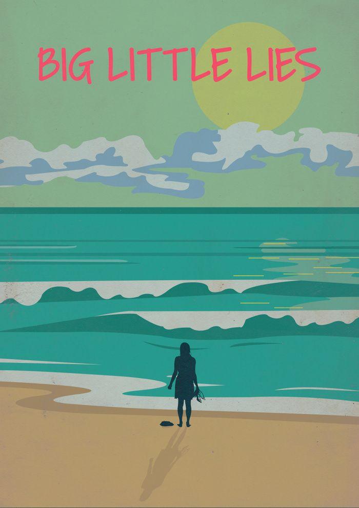 Big Little Lies 2017 Minimal Tv Series Poster By Vikrant Banerjee Amusementphile Portadas Series Pelis