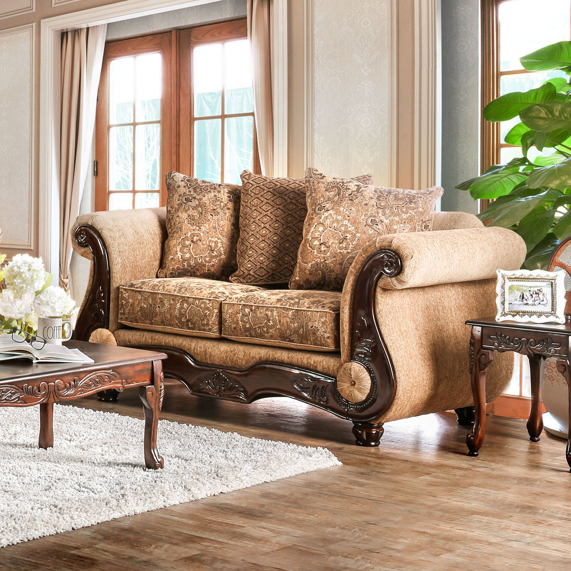 Dolph Traditional Loveseat Living Room