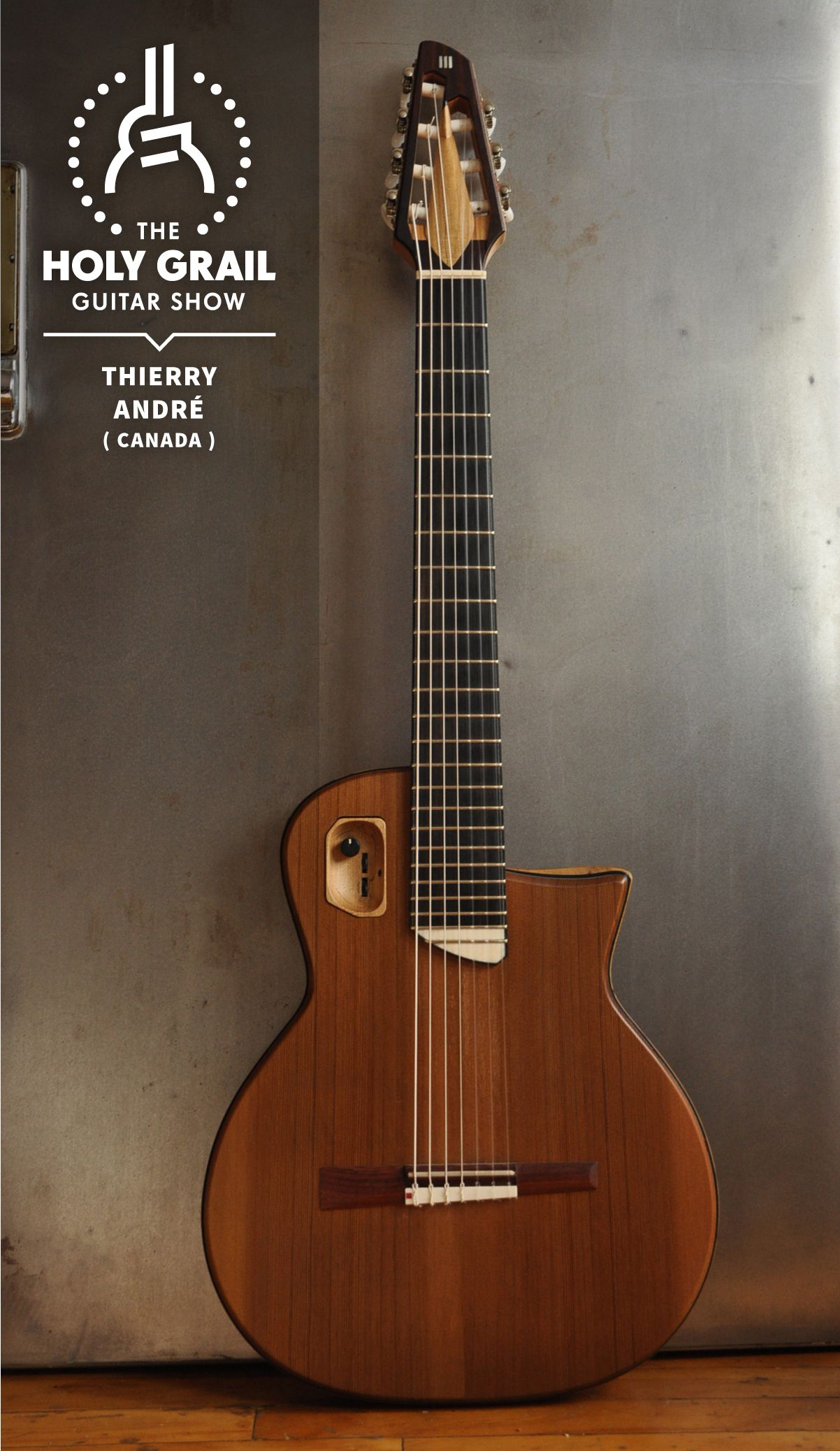 Exhibitor At The Holy Grail Guitar Show 2014 Thierry Andre Canada Http Www Thierryandre Com Https Www Facebook Com Guitar Acoustic Guitar Guitar Design