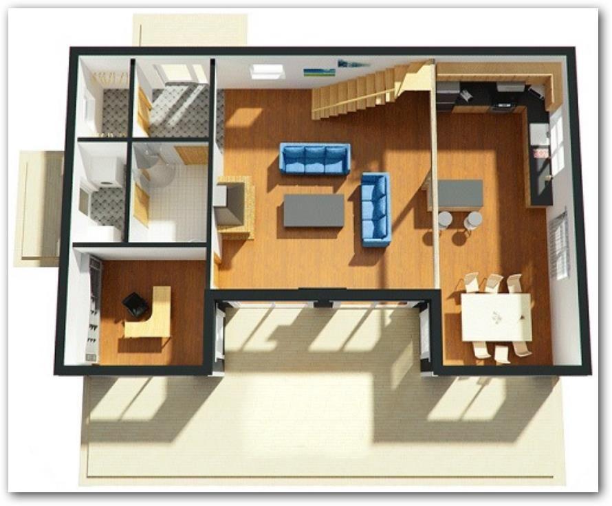 Plano-de-casa-moderna-en-3D.jpg (890×736) | Marruecos | Pinterest ...