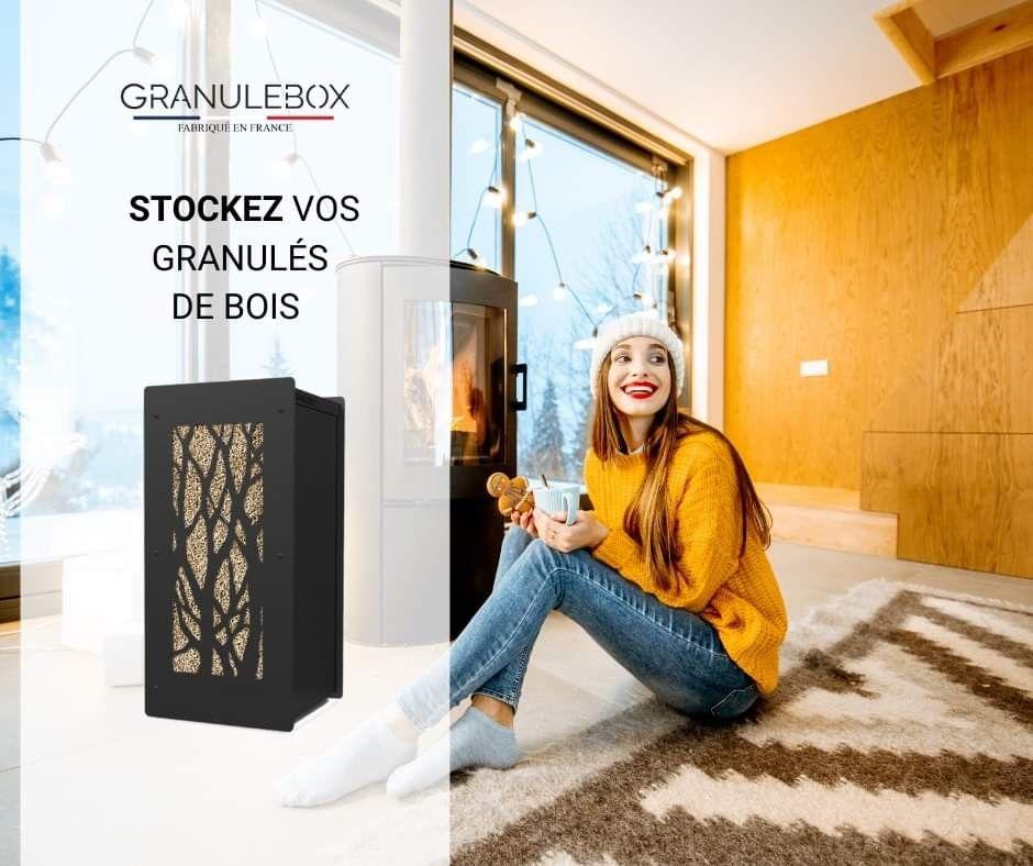 Donnez Du Style A Votre Interieur Avec La Granulebox Mini Arbre Il S Adaptera A V Poele A Granules Poeles A Granules De Bois Et Meuble Rangement