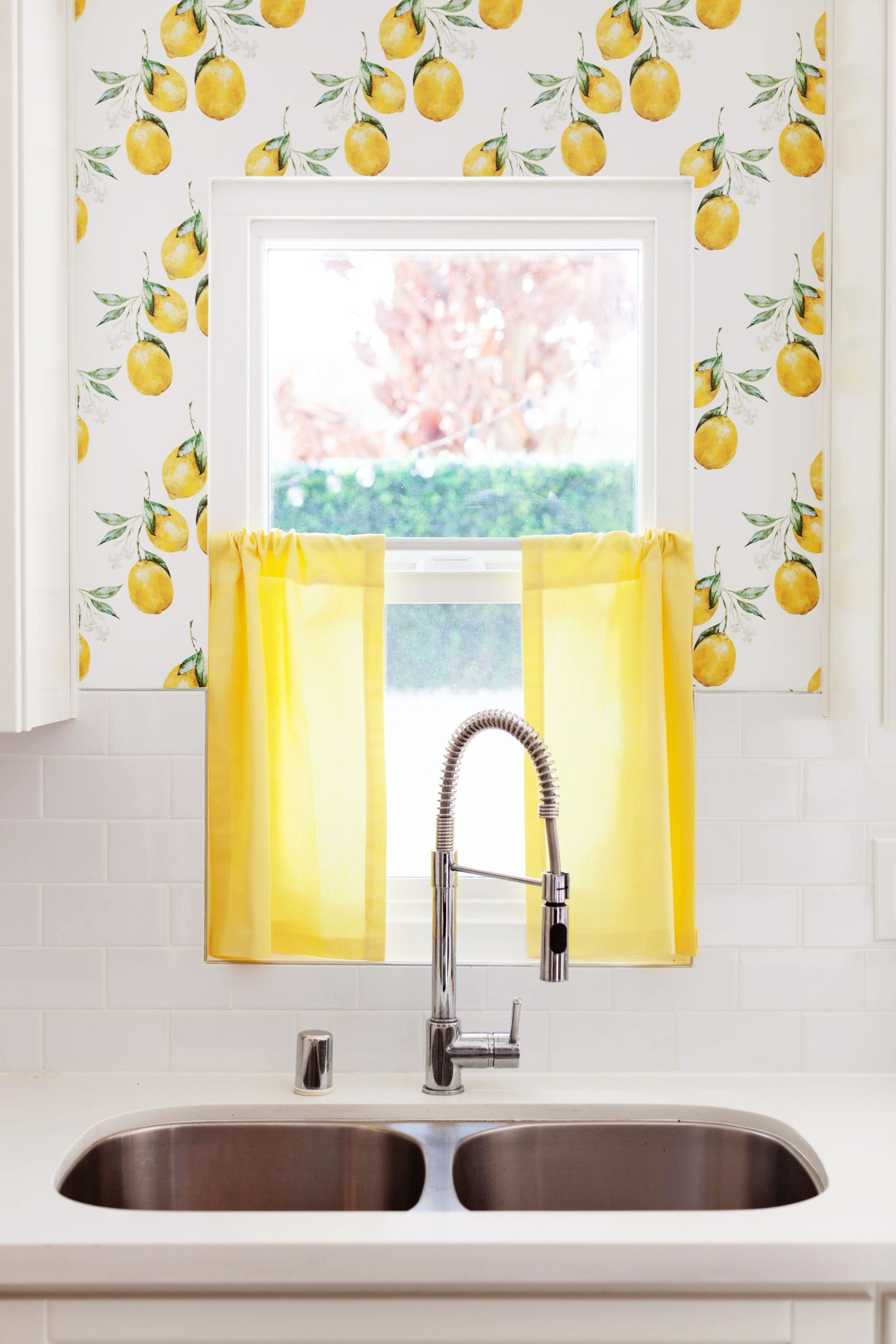 temporary Lemon Kitchen Wallpaper...how to... | in the kitchen ...