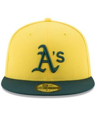 size 40 98010 0c3a1 New Era Oakland Athletics Players Weekend 59FIFTY Fitted Cap - Yellow 7 1 8