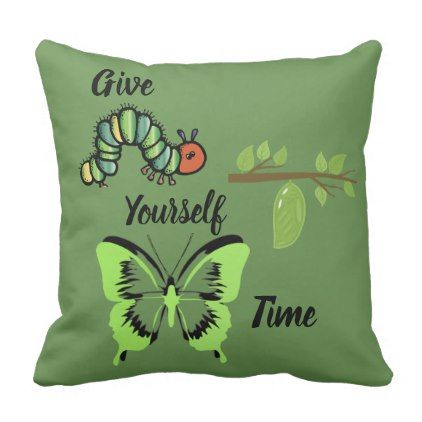 Give Yourself Time Throw Pillow