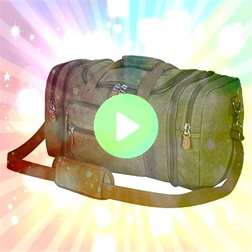 Canvas Duffle Bag for Travel 50L Duffel Overnight Weekend Bag Clean Vintage Hybrid Backpack Messenger Bag  Convertible Laptop Messenger Backpack Rucksack BookBag Daypack...