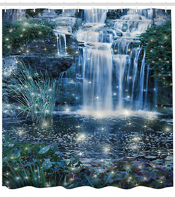 Details About Waterfall Shower Curtain Magic Fairy Cascade Print